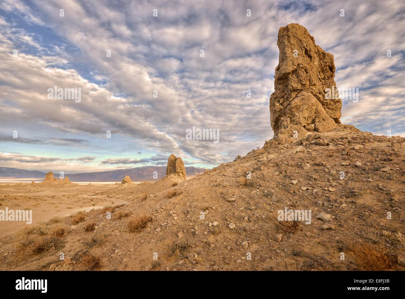 USA, California, Trona, View of Pinnacles National Natural Landmark - Stock Image