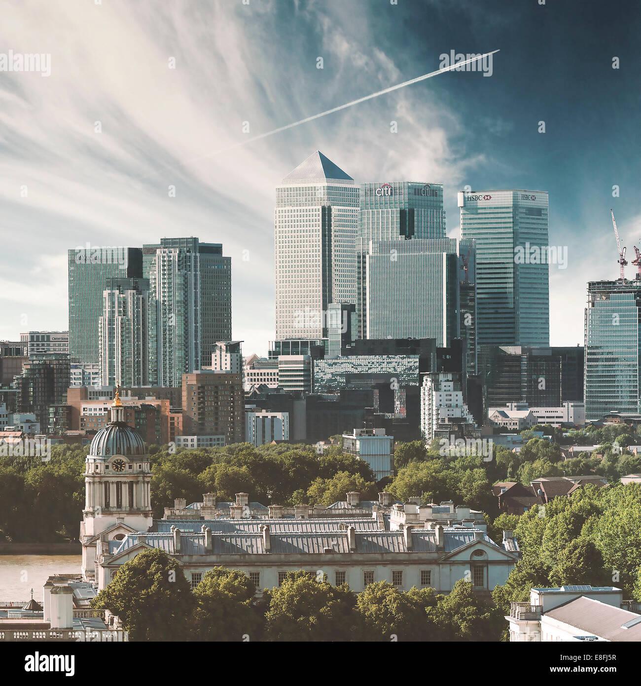 UK, England, London, Canary Wharf, Cityscape - Stock Image