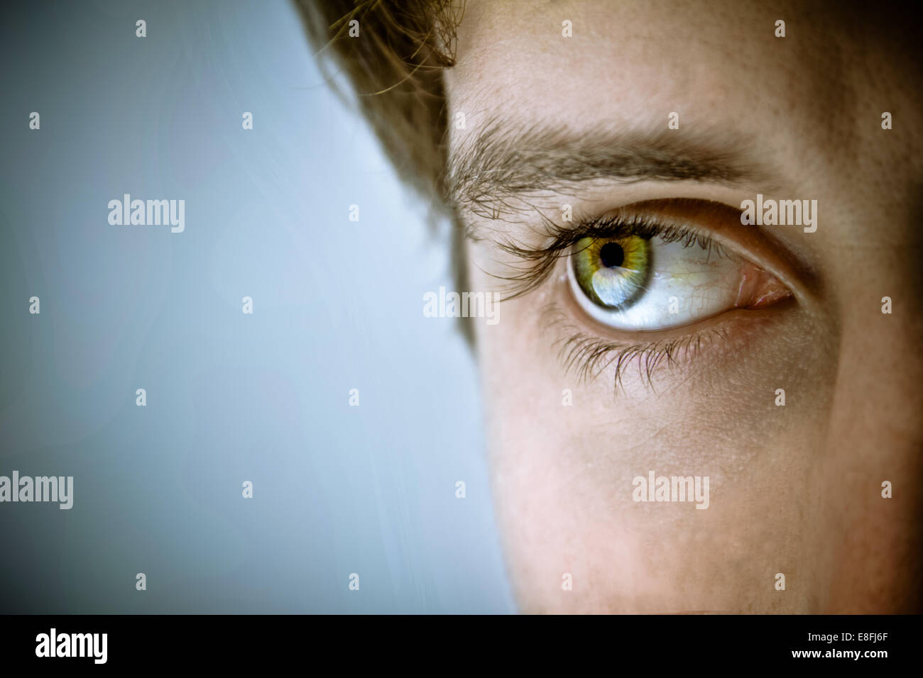 Close-up of man's eye - Stock Image