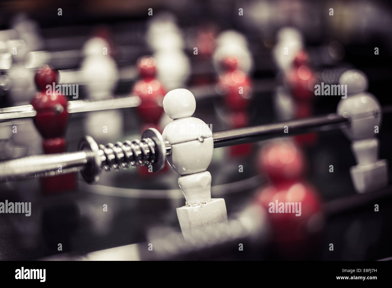 Close-up of foosball table - Stock Image