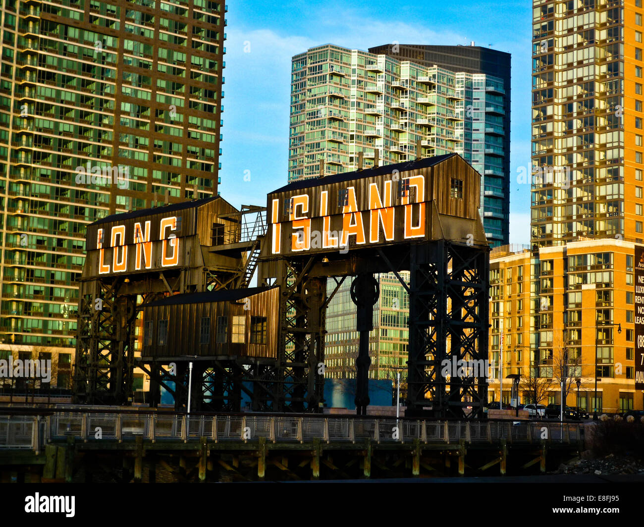 USA, New York City, Queens, Long Island City, View of Queens- Midtown Tunnel - Stock Image