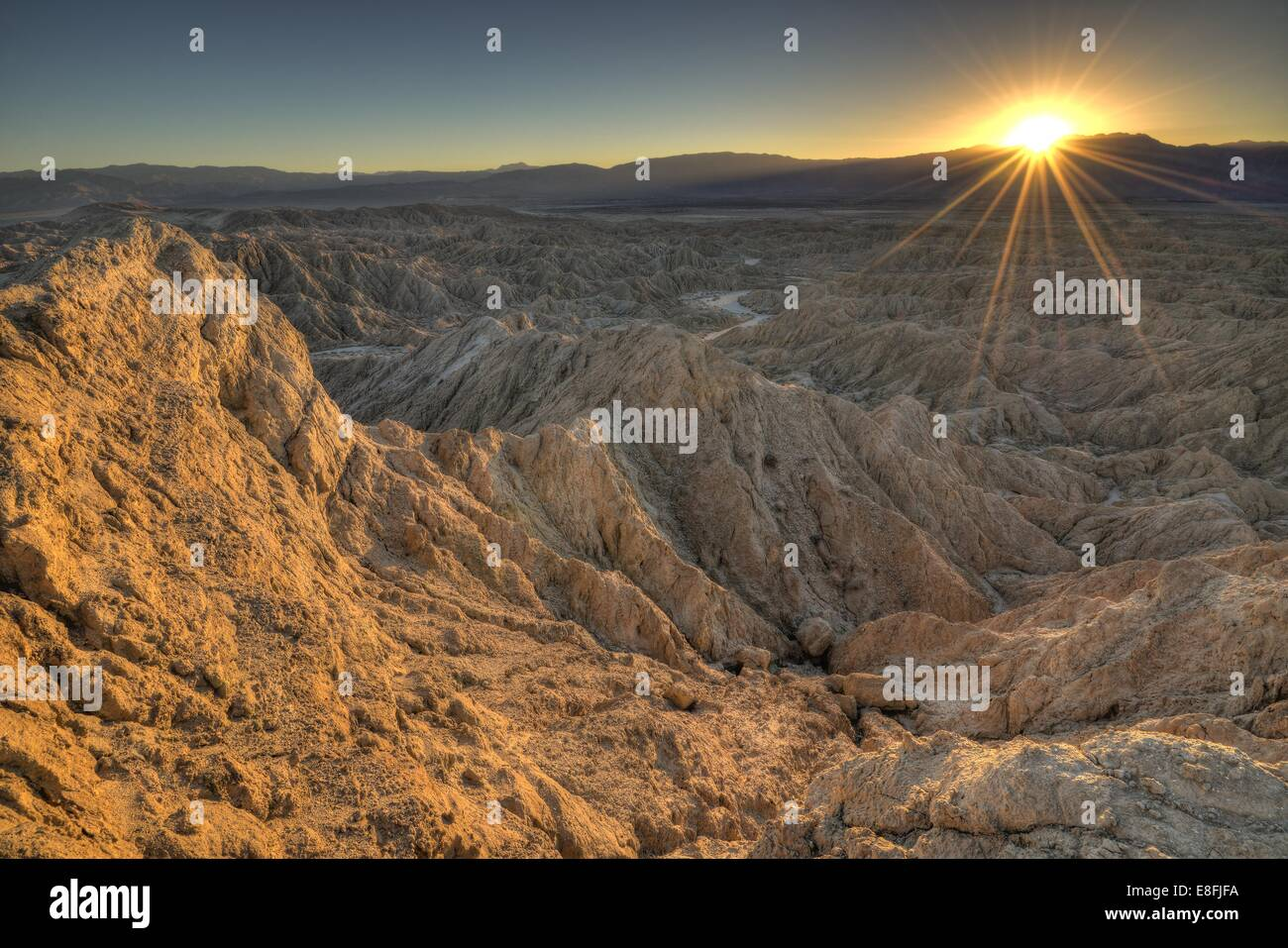 USA, California, Anza-Borrego Desert State Park, Landscape at sunset - Stock Image