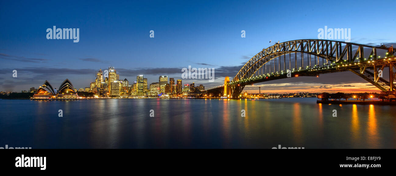 Australia, New South Wales, Sydney during sunset - Stock Image
