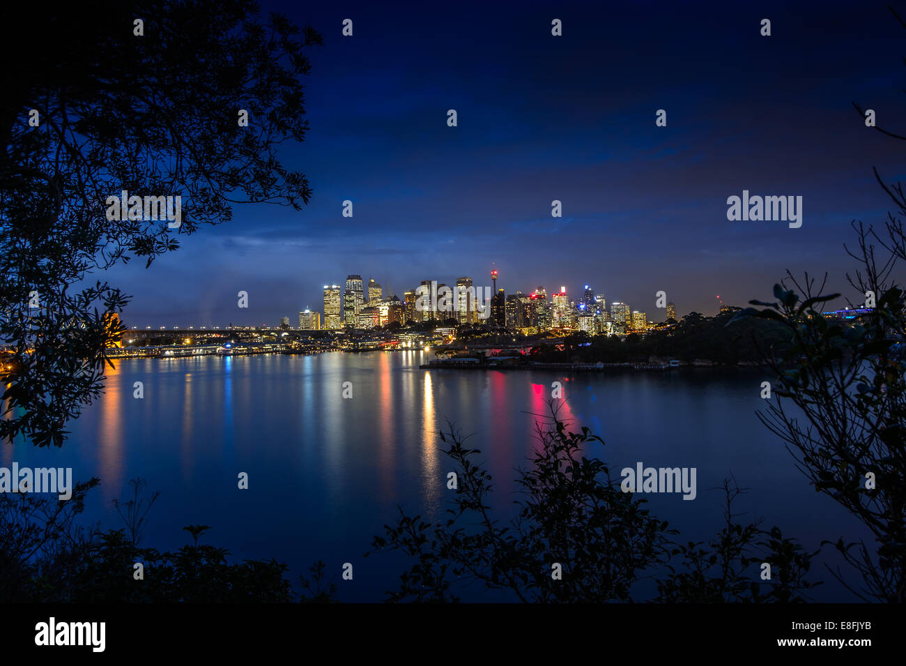 Australia, New South Wales, Sydney, Cityscape at twilight - Stock Image