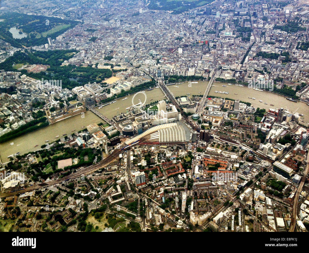 Aerial view of London, England, UK - Stock Image