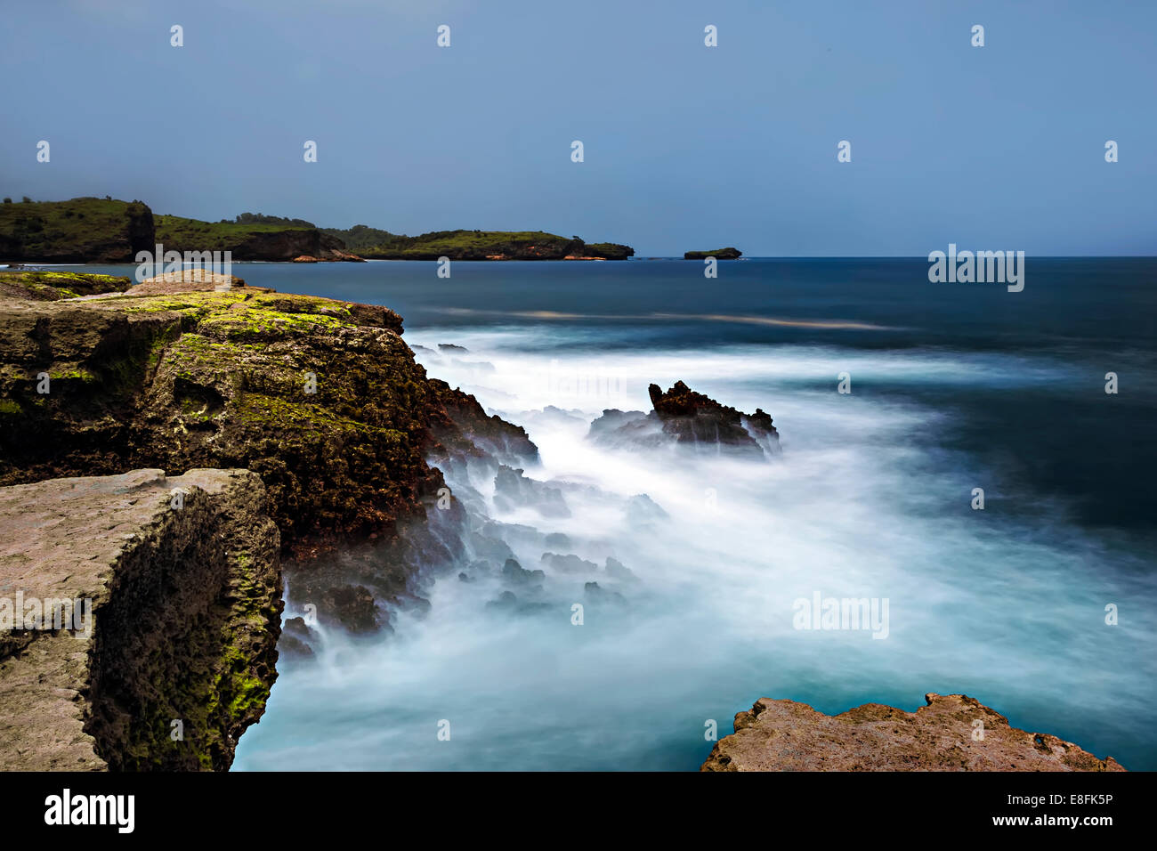 Klayar Beach, Pacitan, Indonesia, Southeast Asia Klayar Beach - Stock Image