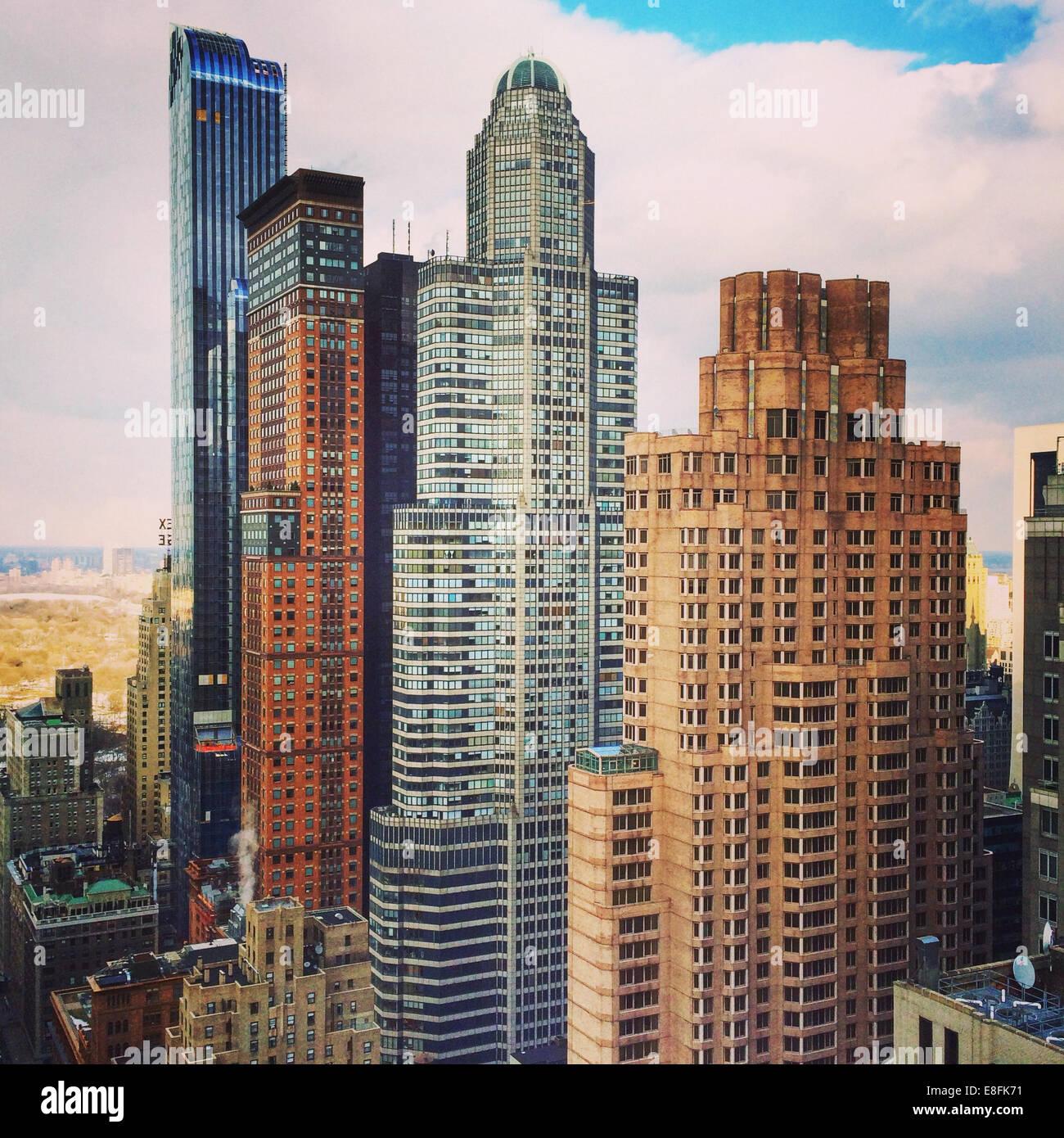 USA, New York State, New York City, Midtown Manhattan skyline - Stock Image