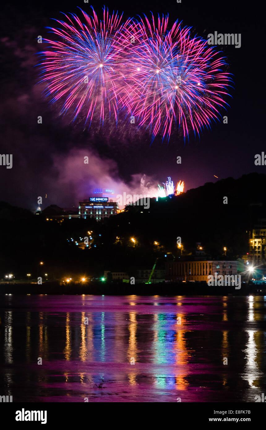 Ukraine, Kyiv, Celebrating of Independence Day - Stock Image