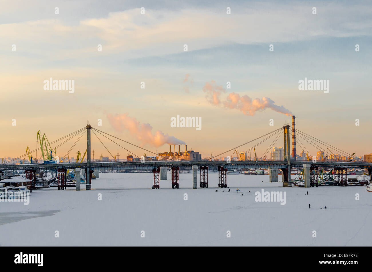 Ukraine, Kyiv, Industrial view - Stock Image