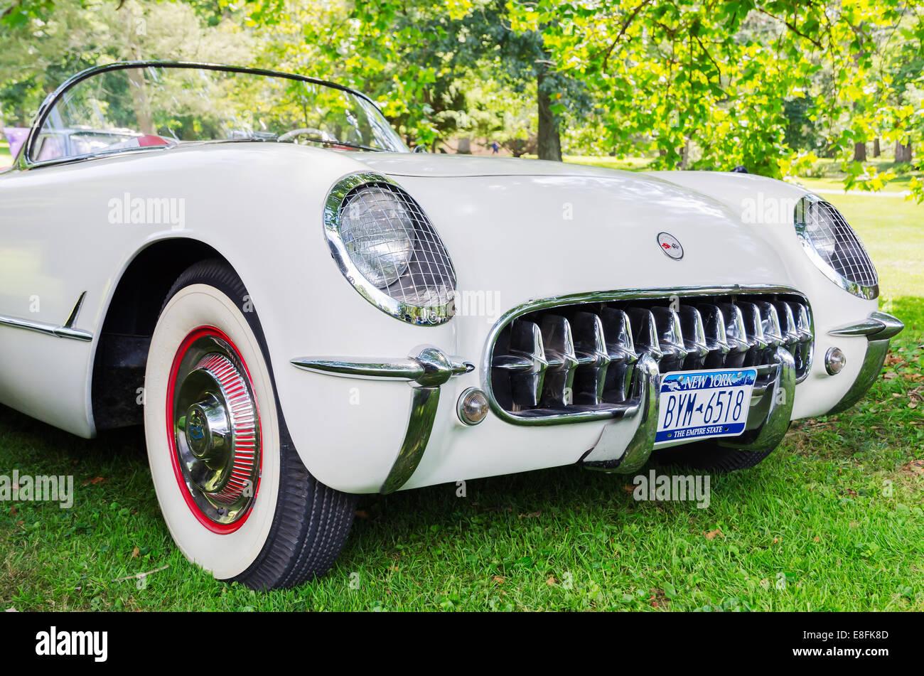 Classic 50's American Car. - Stock Image