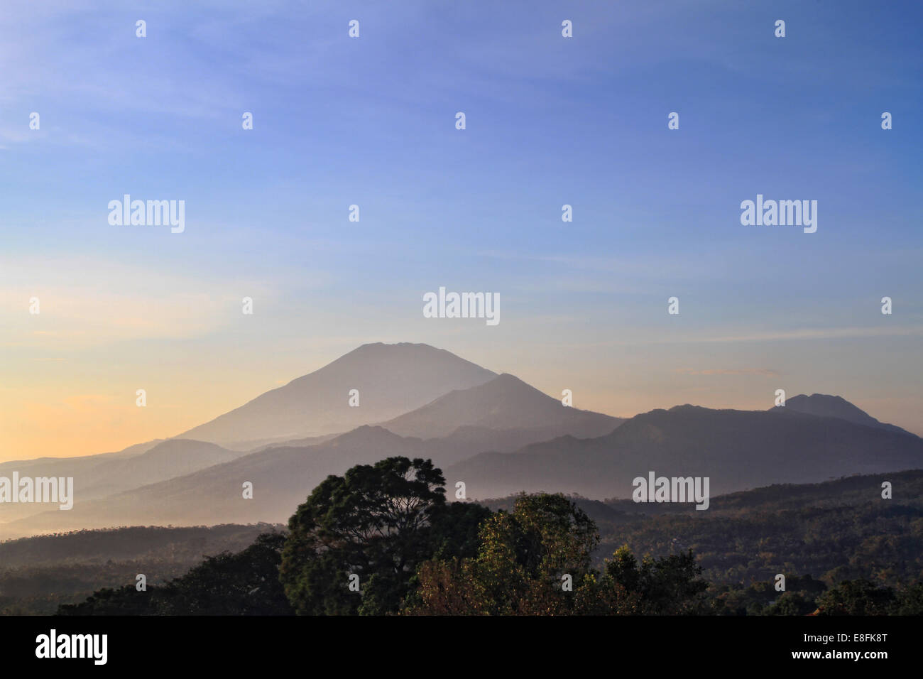 Indonesia, Central Java, Bandungan, Landscape of mountains - Stock Image