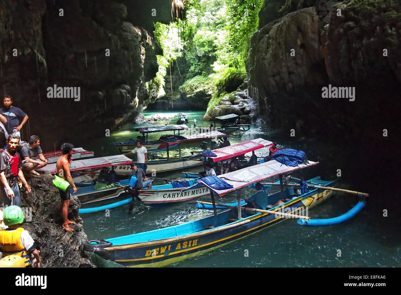 Indonesia, West Java, Cimerak, Green Canyon - Stock Image