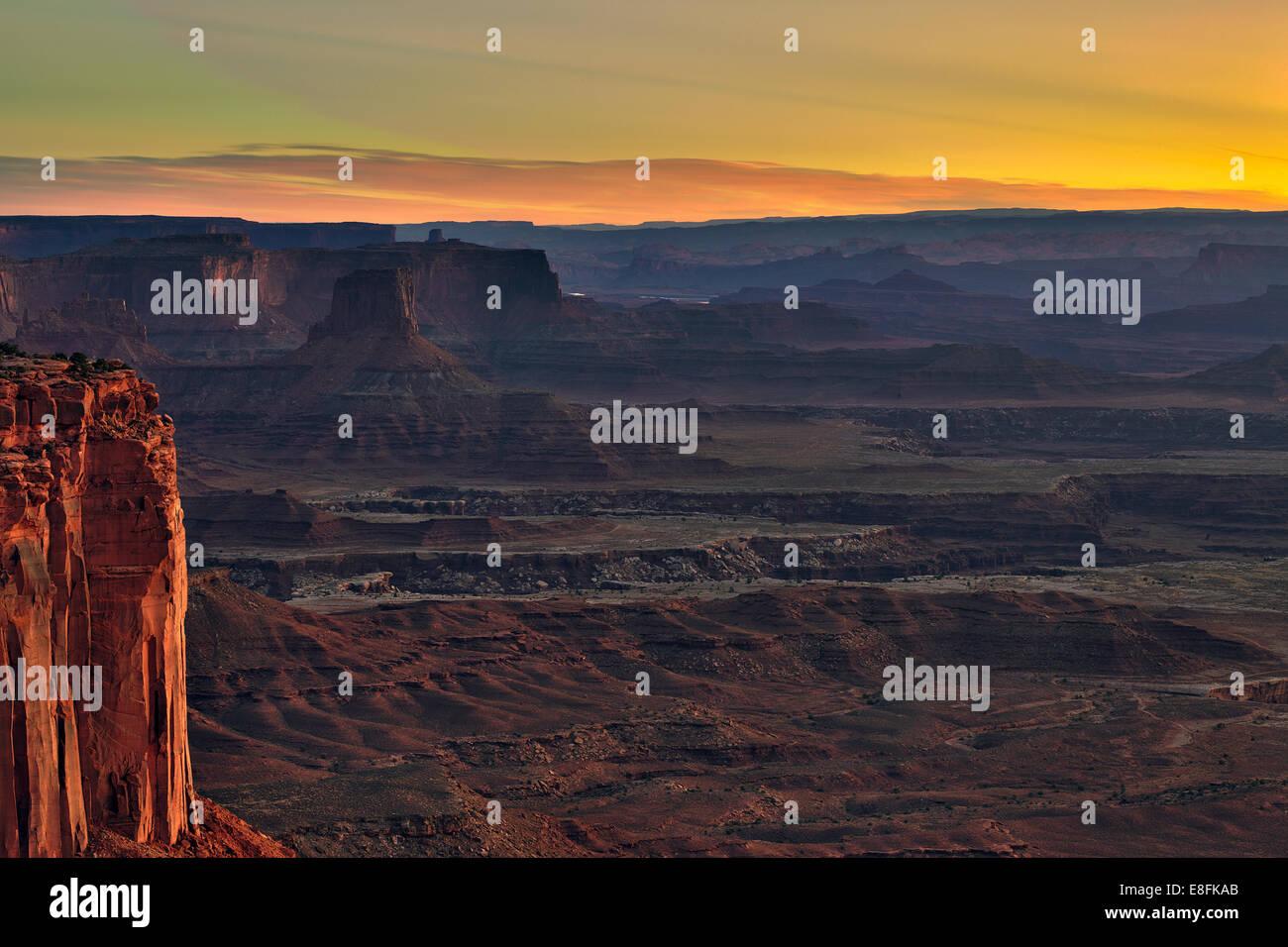 USA, Utah, San Juan, Grand View Point Road, Canyonlands National Park, View of canyon - Stock Image
