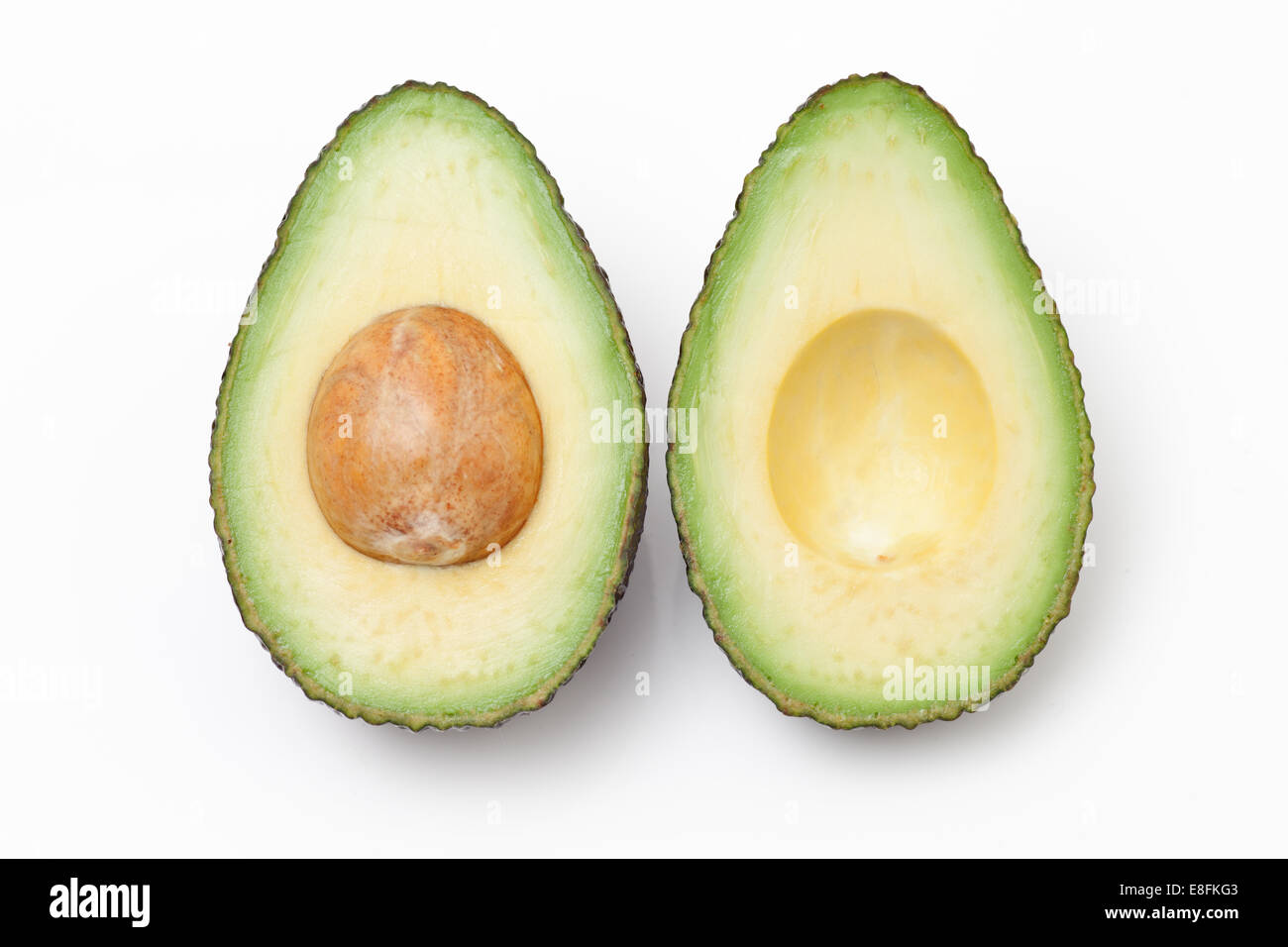 close up of an avocado cut in half stock photo 74103347 alamy