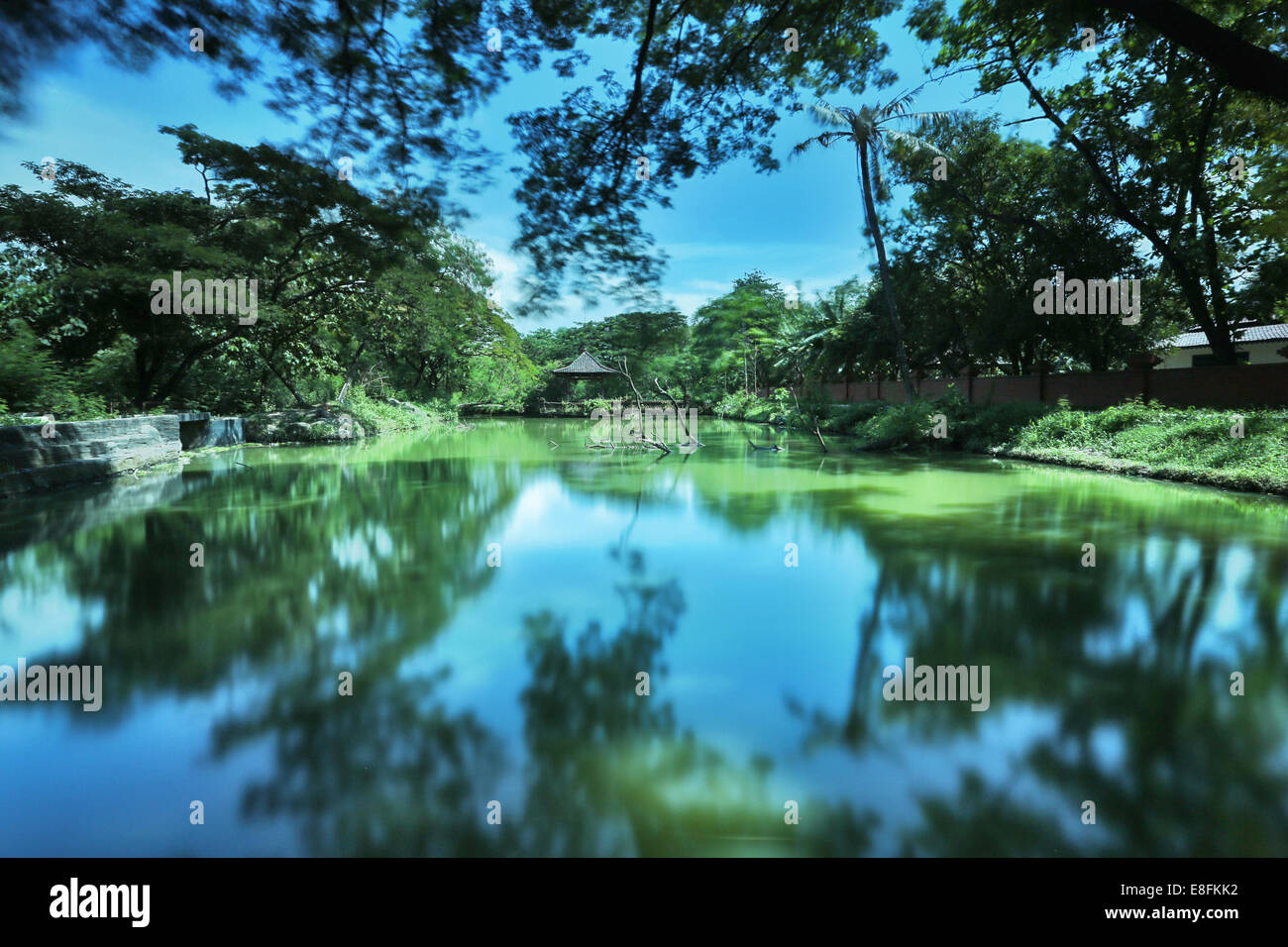 Old Garden At Astana Kesepuhan, Cirebon Stock Photo