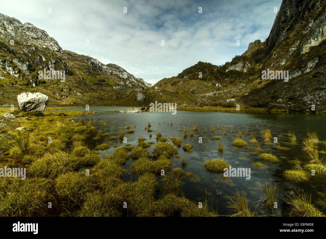 Indonesia, Papua, Jayawijaya, Maren Middle Lake of Lorents National Conservation Park - Stock Image