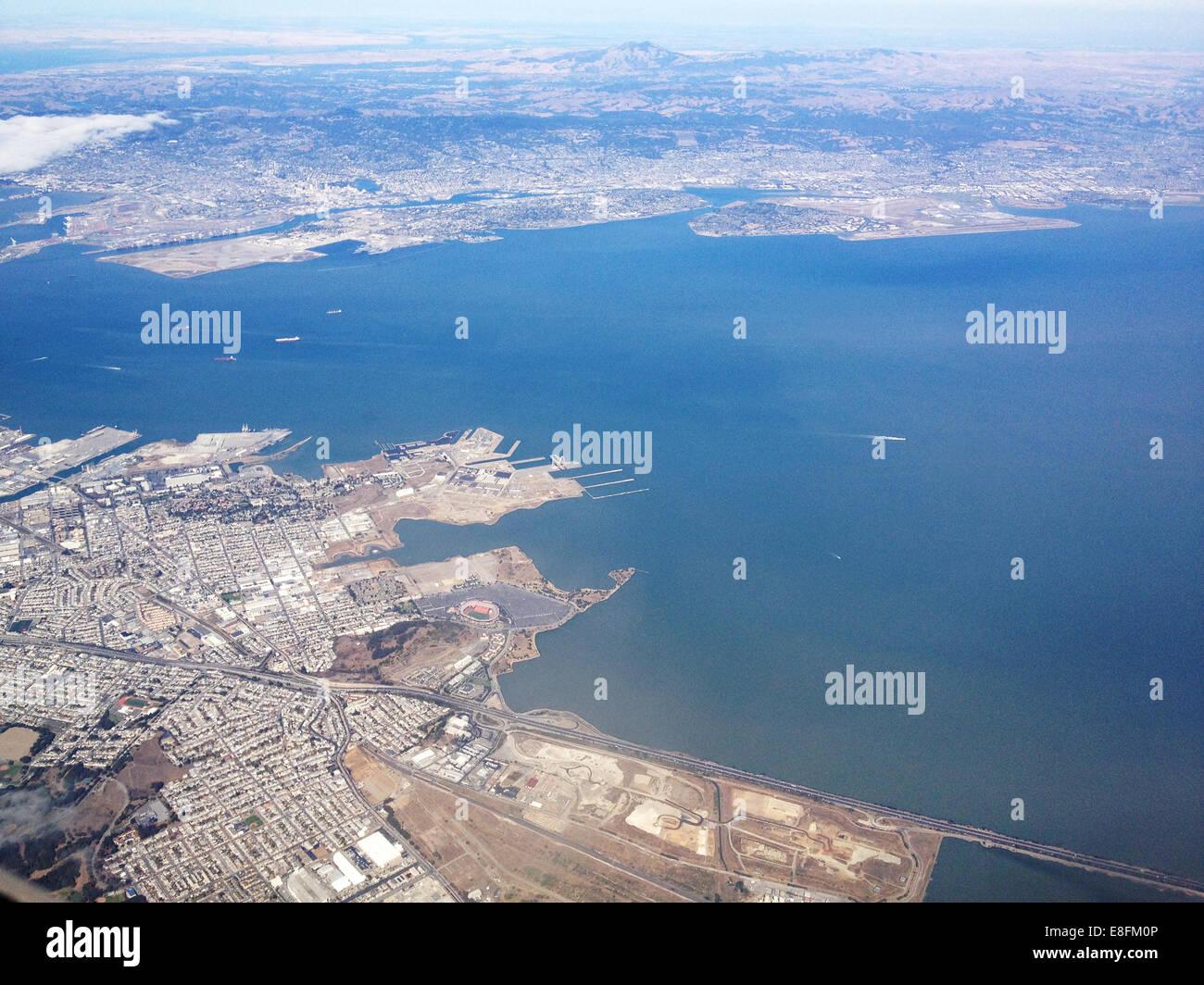 USA, California, San Francisco Bay, Alameda, Docks, Ferry Landing - Stock Image