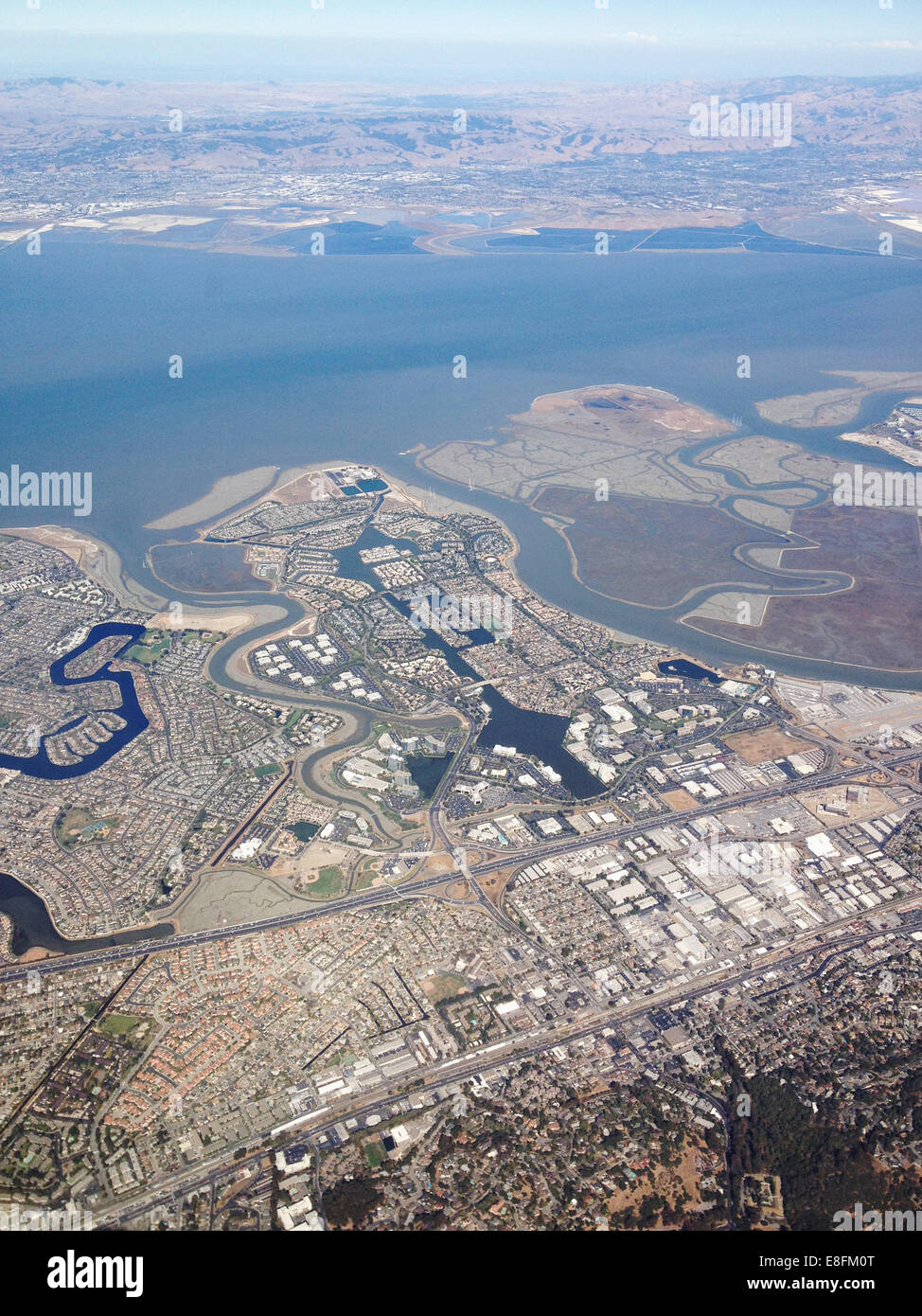 San Francisco, California, United States of America Agriculture And City Scape From Above - Stock Image