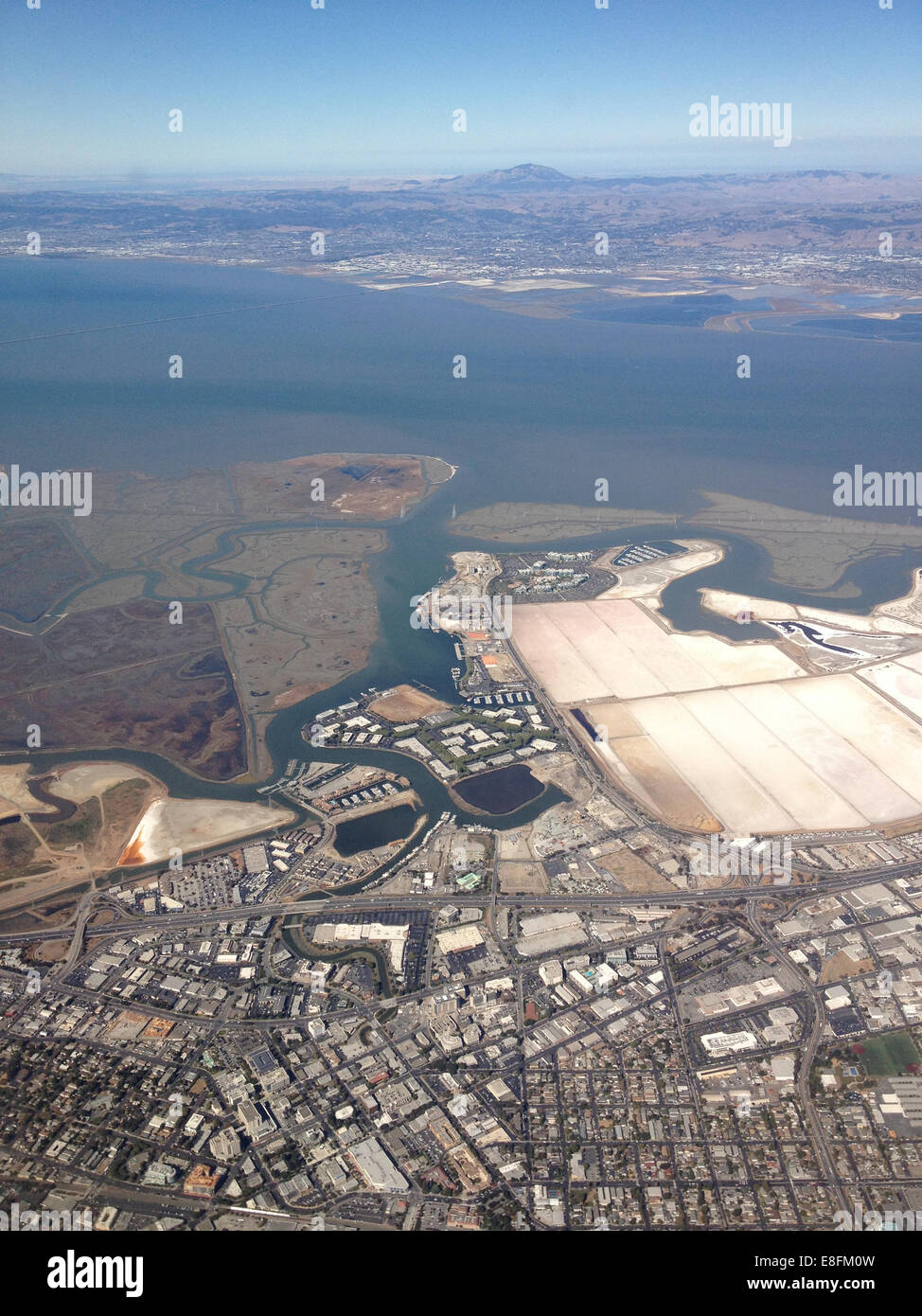 San Francisco, California, United States of America City And Sea Scape From Above - Stock Image