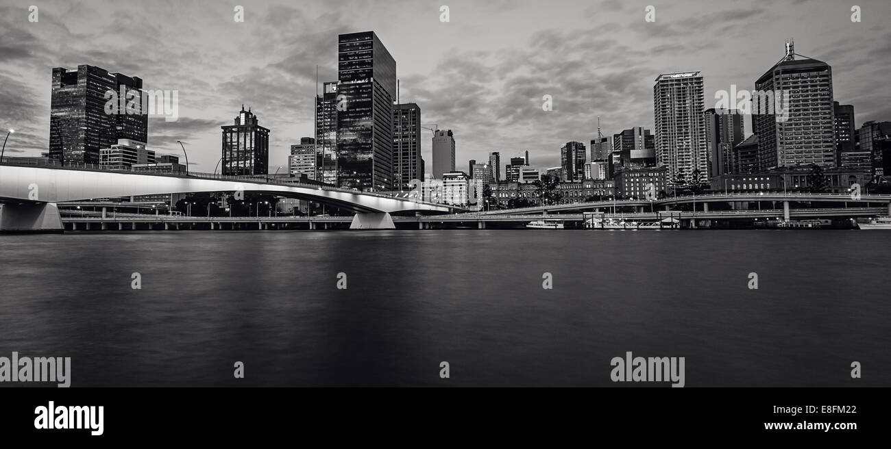Australia, Queensland, Panoramic shot of Brisbane city - Stock Image