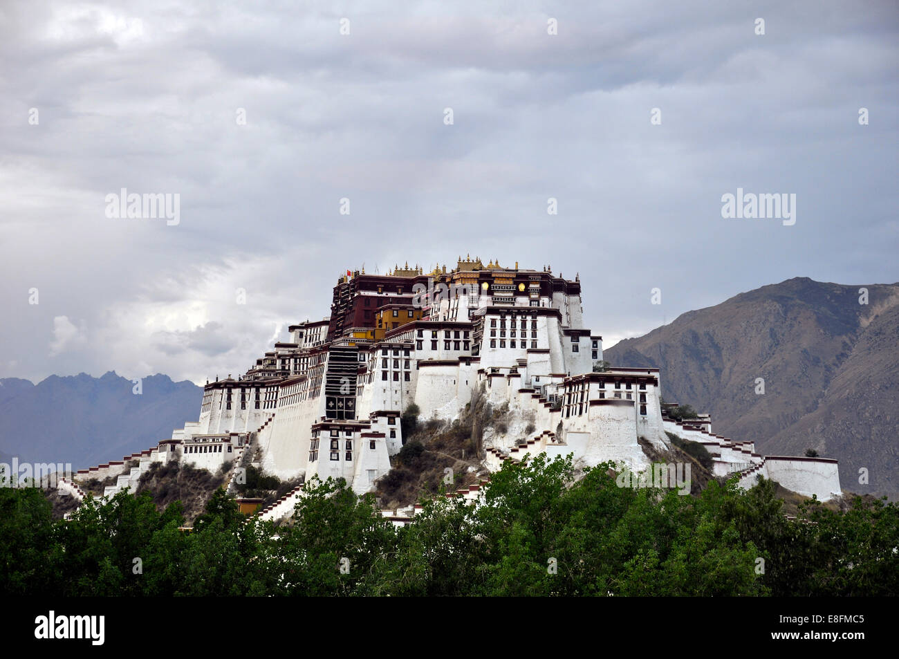 China, Tibet, Lhasa, Potala Place - Stock Image