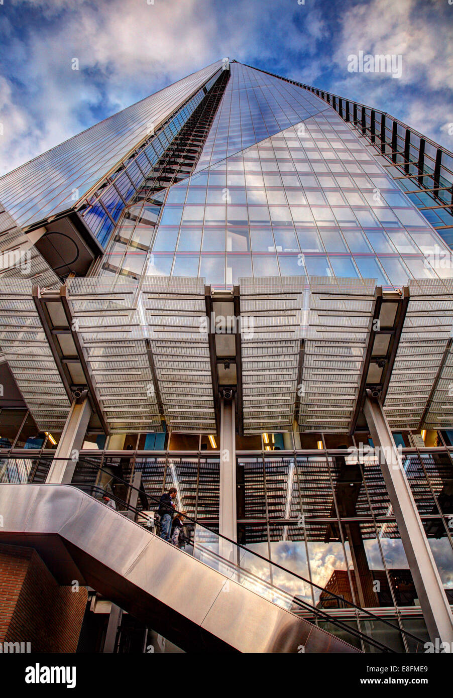 United Kingdom, London, Upward view of Shard of Glass - Stock Image