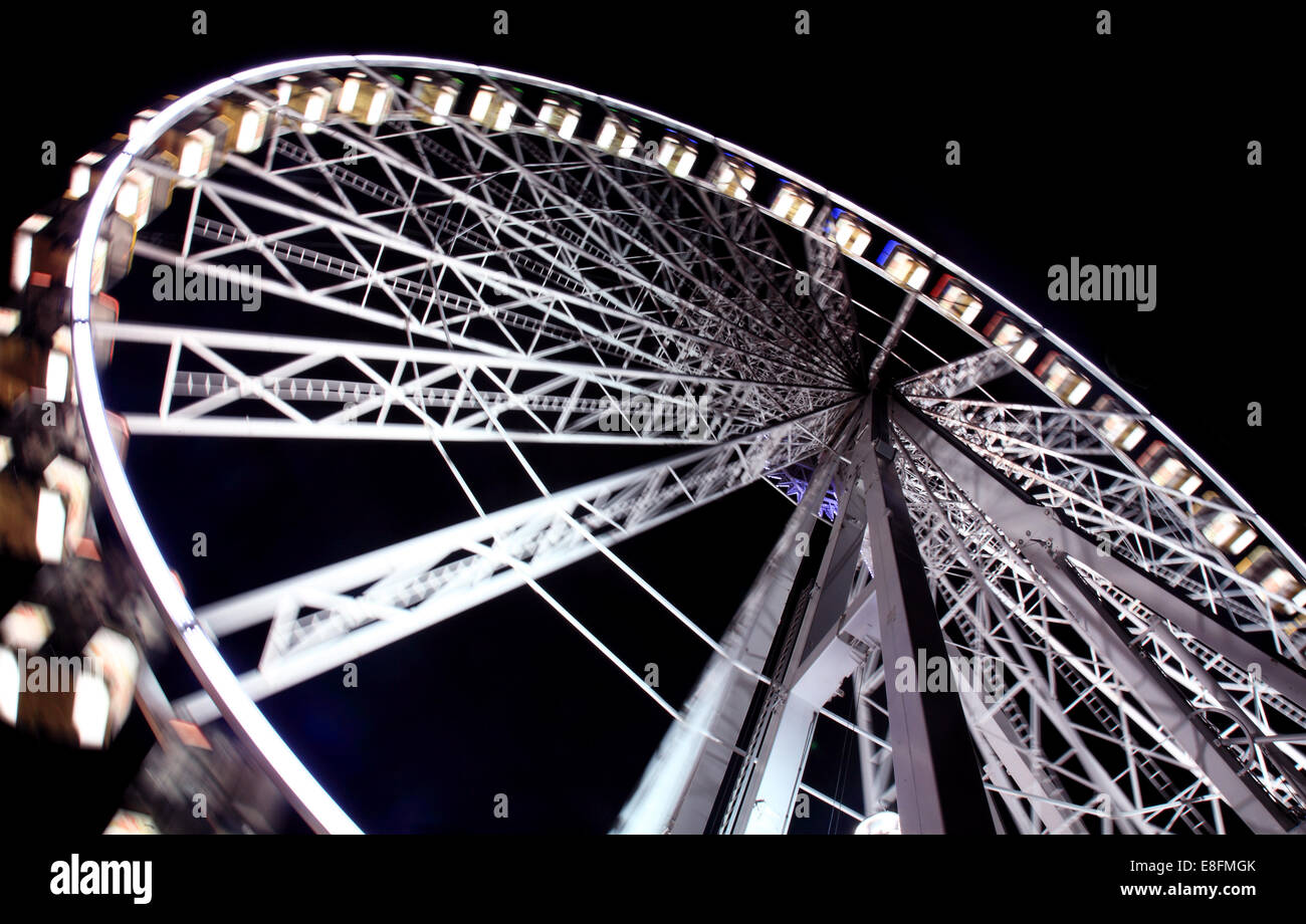 United Kingdom, England, London, Ferris Wheel - Stock Image