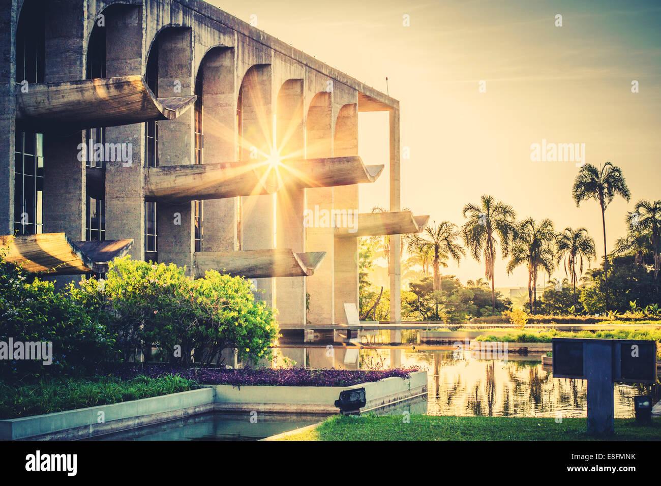 Brazil, Brasilia, View of Palacio da Justicia - Stock Image