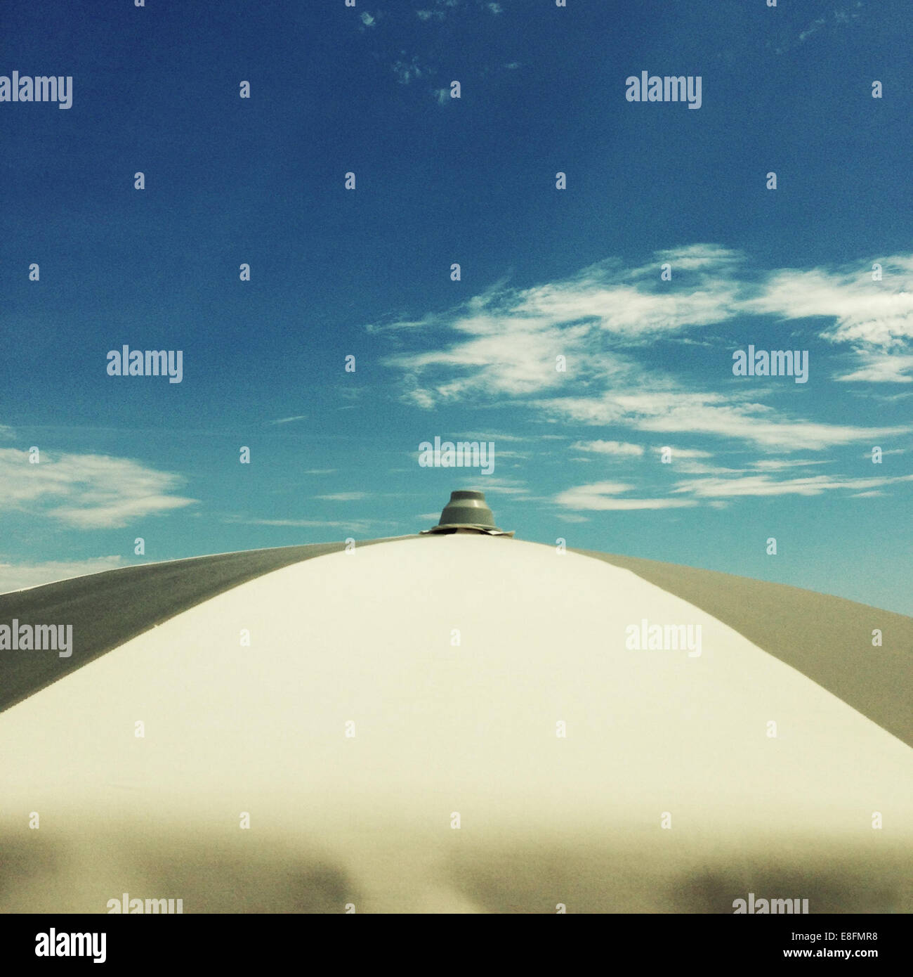 Top of umbrella - Stock Image