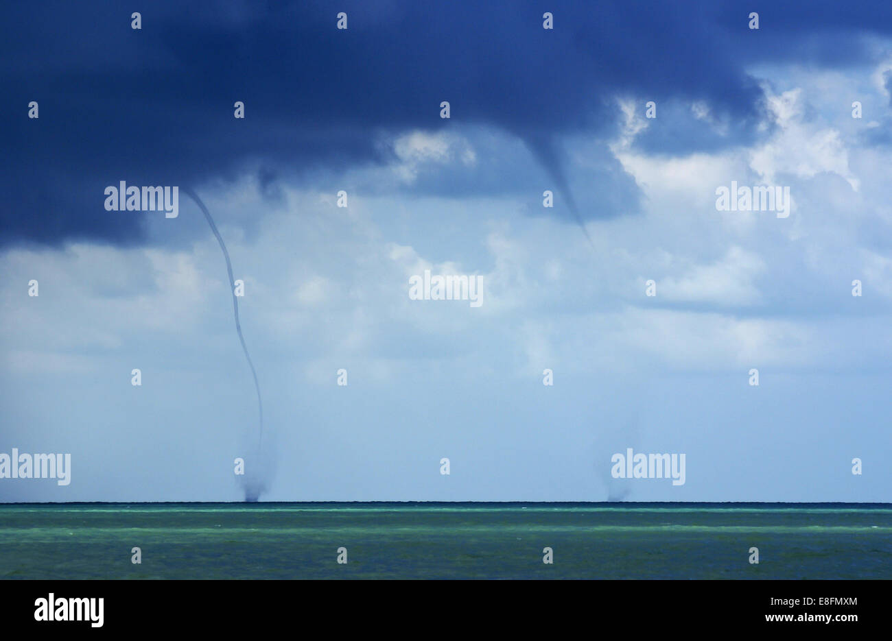 Twin water spouts - Stock Image