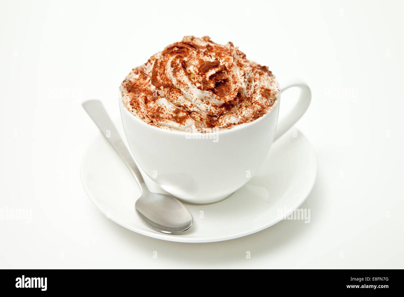 Cup of Cappuccino coffee - Stock Image