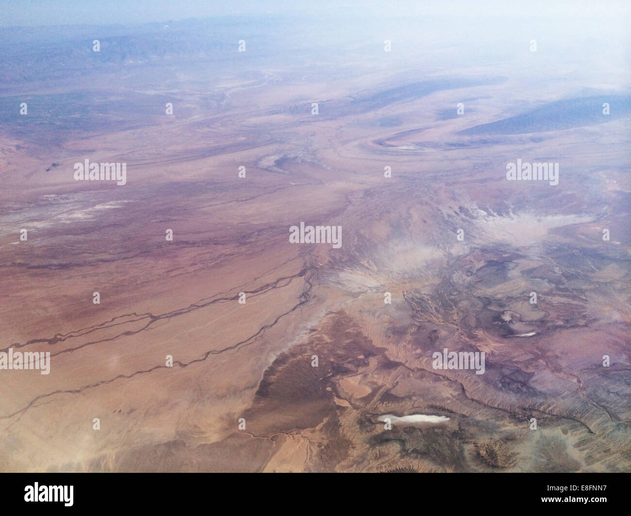 Mountain range from above - Stock Image