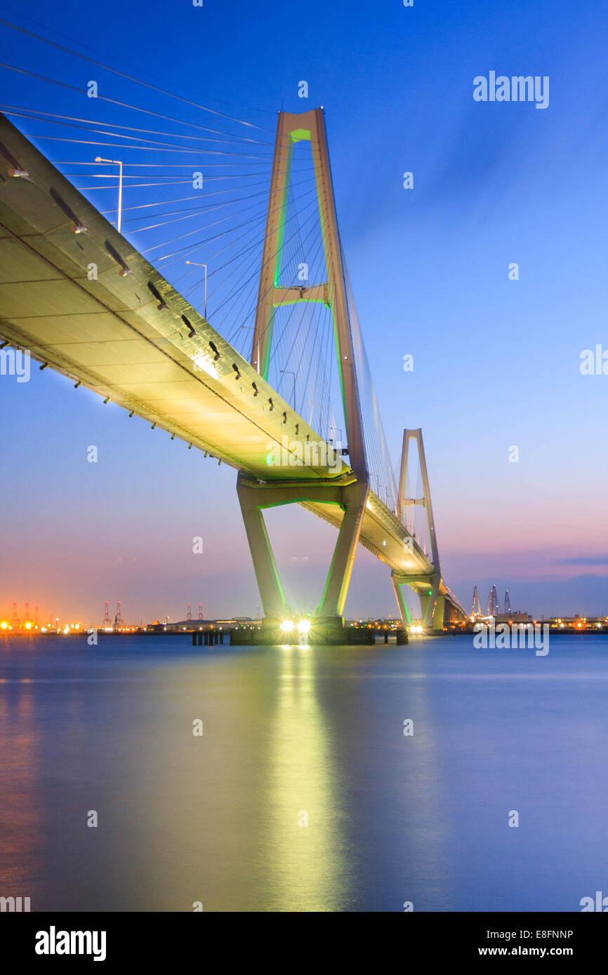 Japan, Chubu Regon, Aichi Prefecture, Chita, Nagoya, Meito Triton Bridge - Stock Image