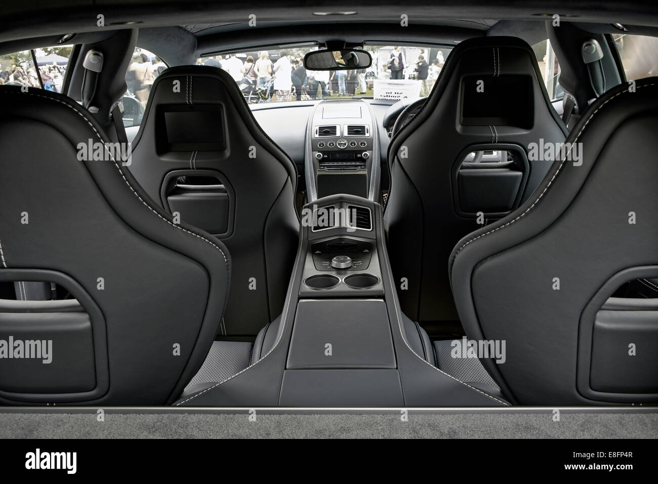 rear view of the interior of a 2014 aston martin rapide s. Black Bedroom Furniture Sets. Home Design Ideas