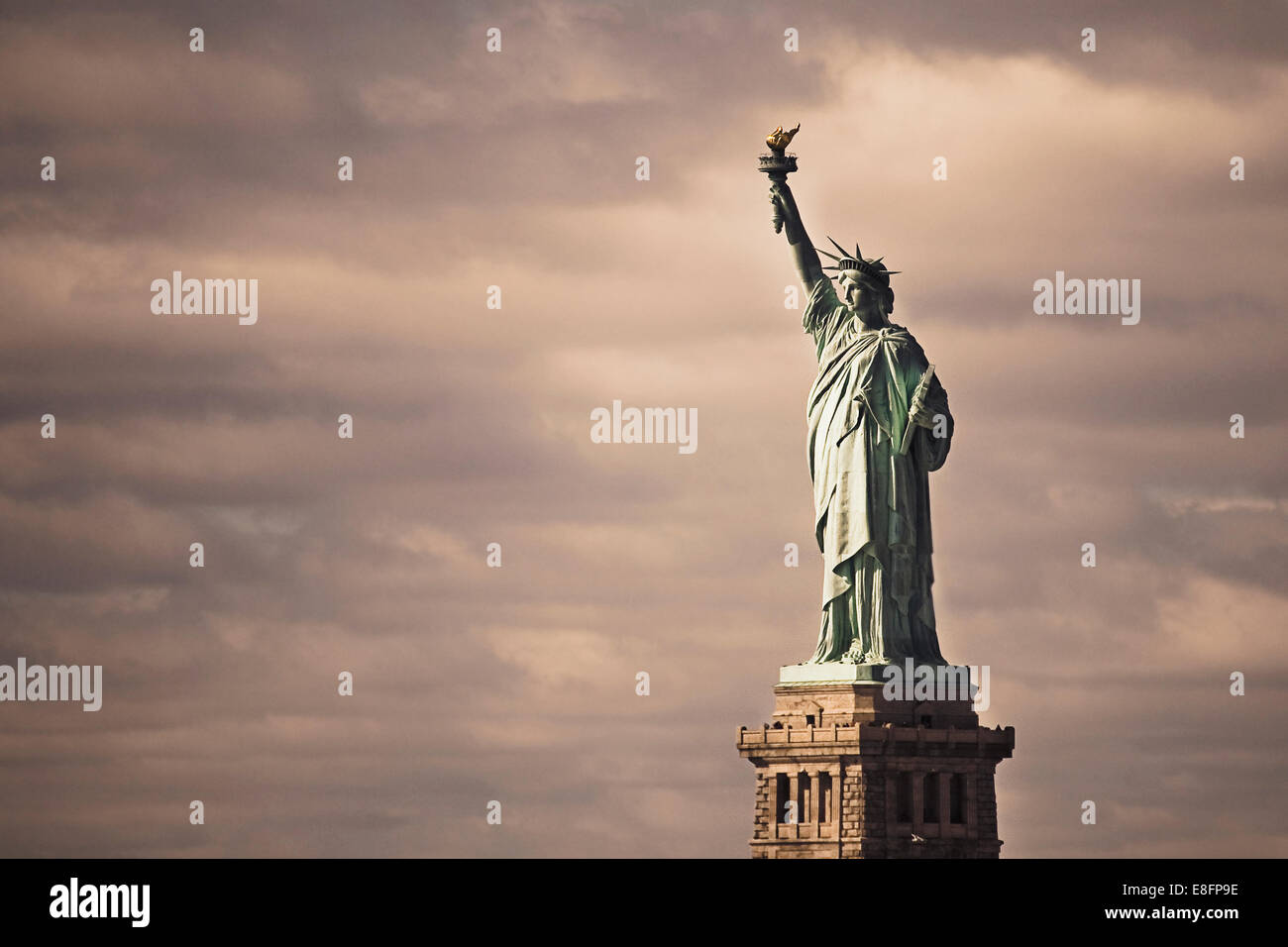 USA, New York State, New York City, Statue Of Liberty - Stock Image