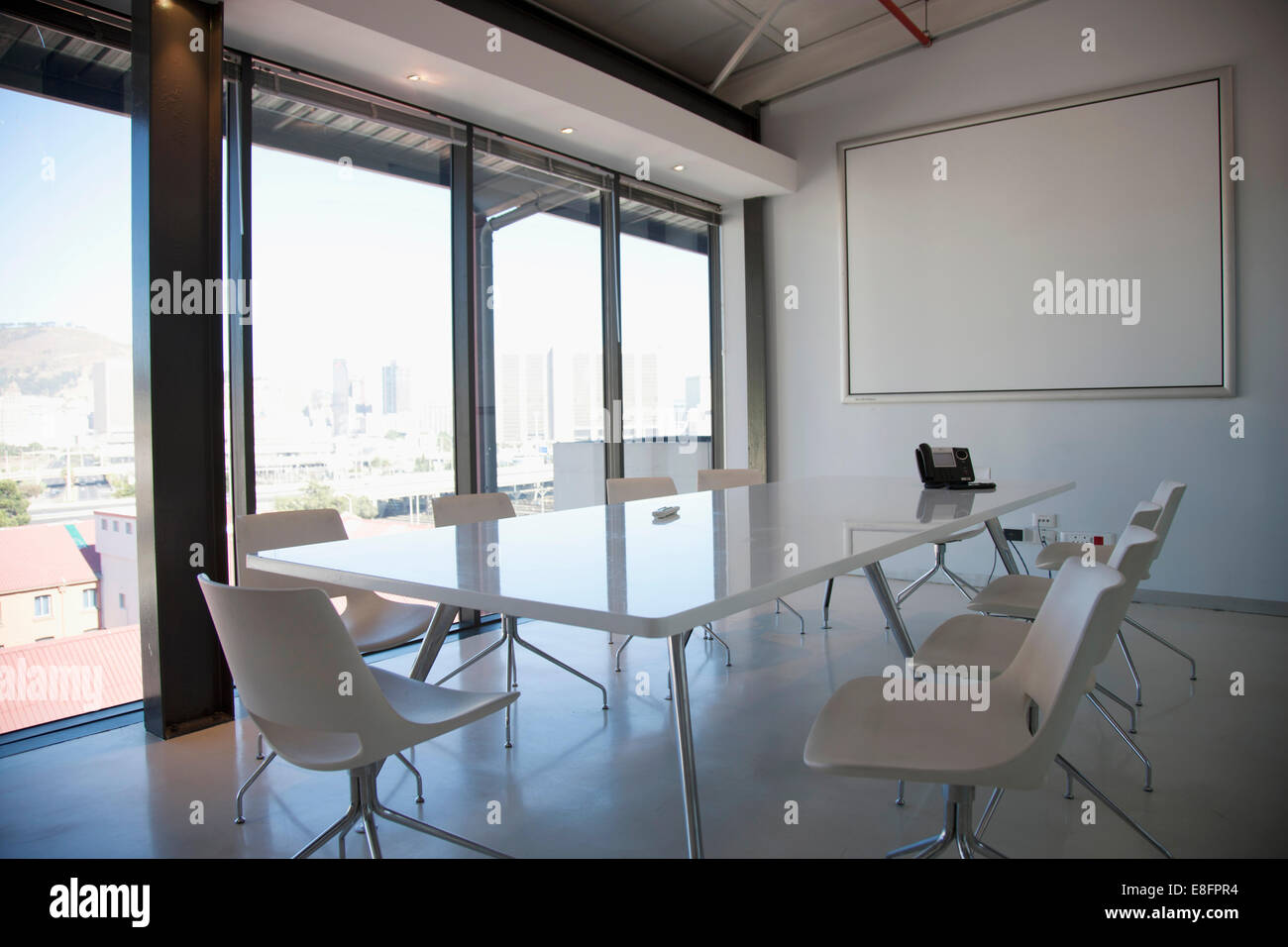 Contemporary empty conference room - Stock Image