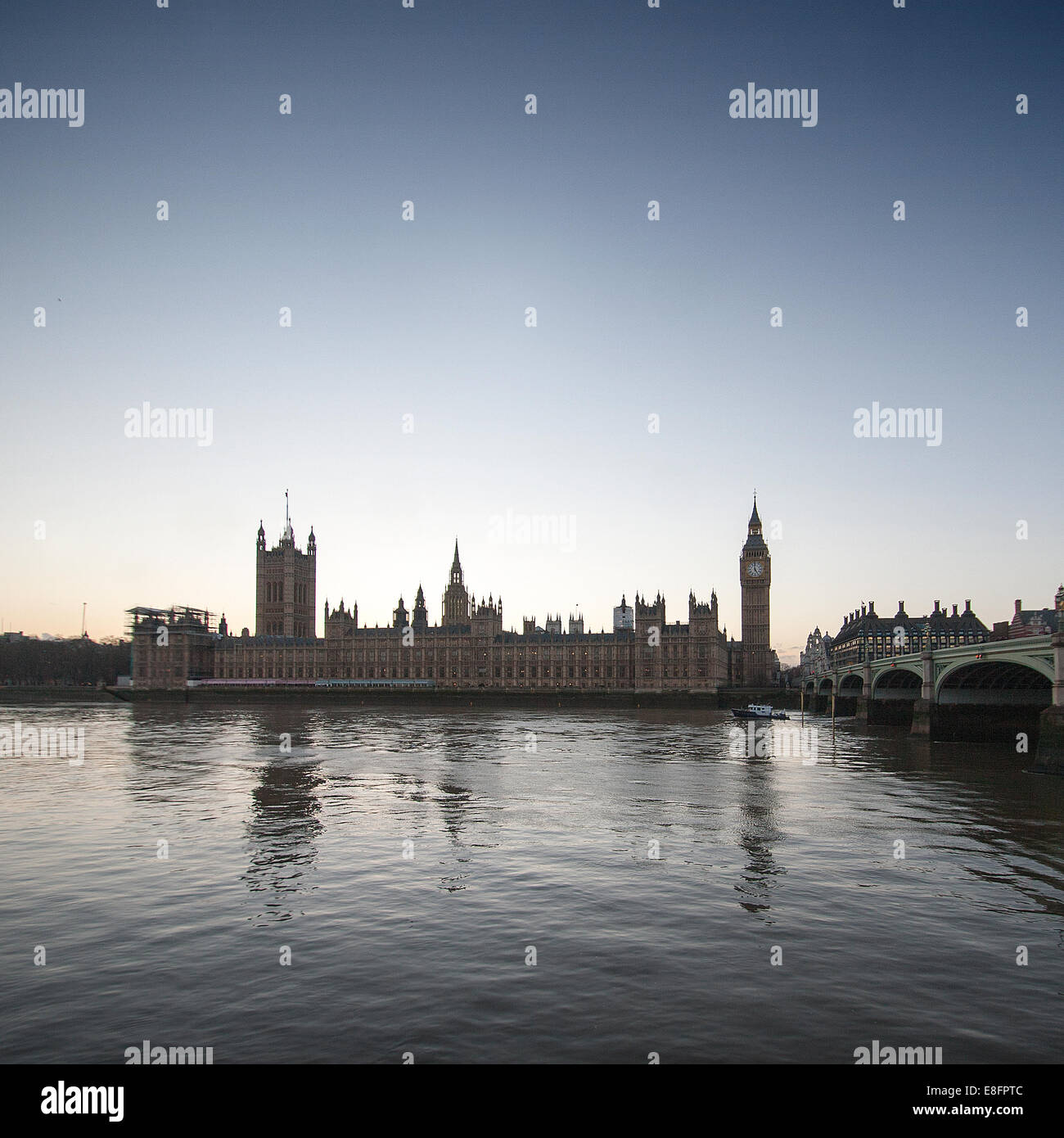 United Kingdom, London, Houses of Parliament - Stock Image