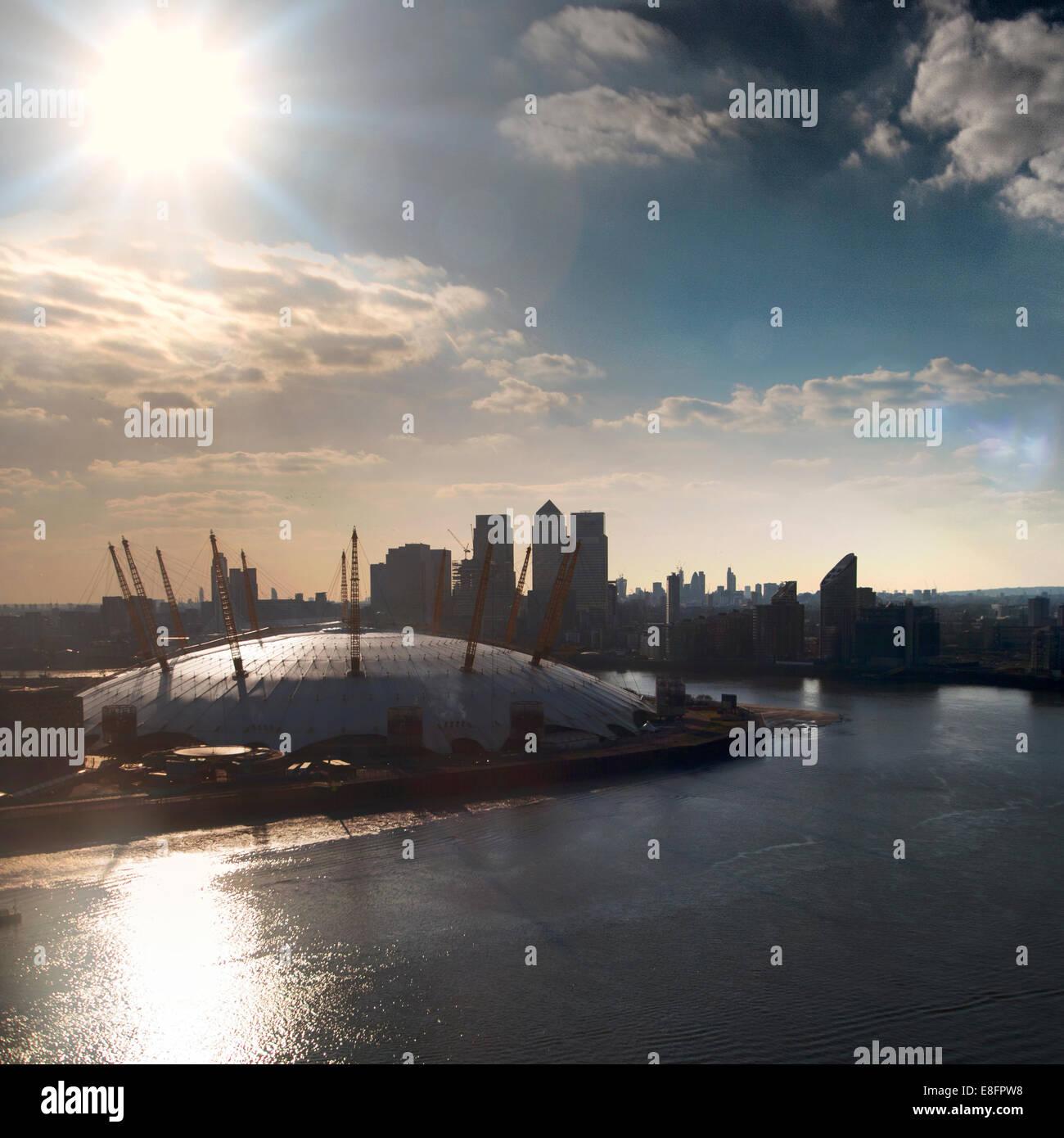 United Kingdom, London, View of O2 Arena - Stock Image