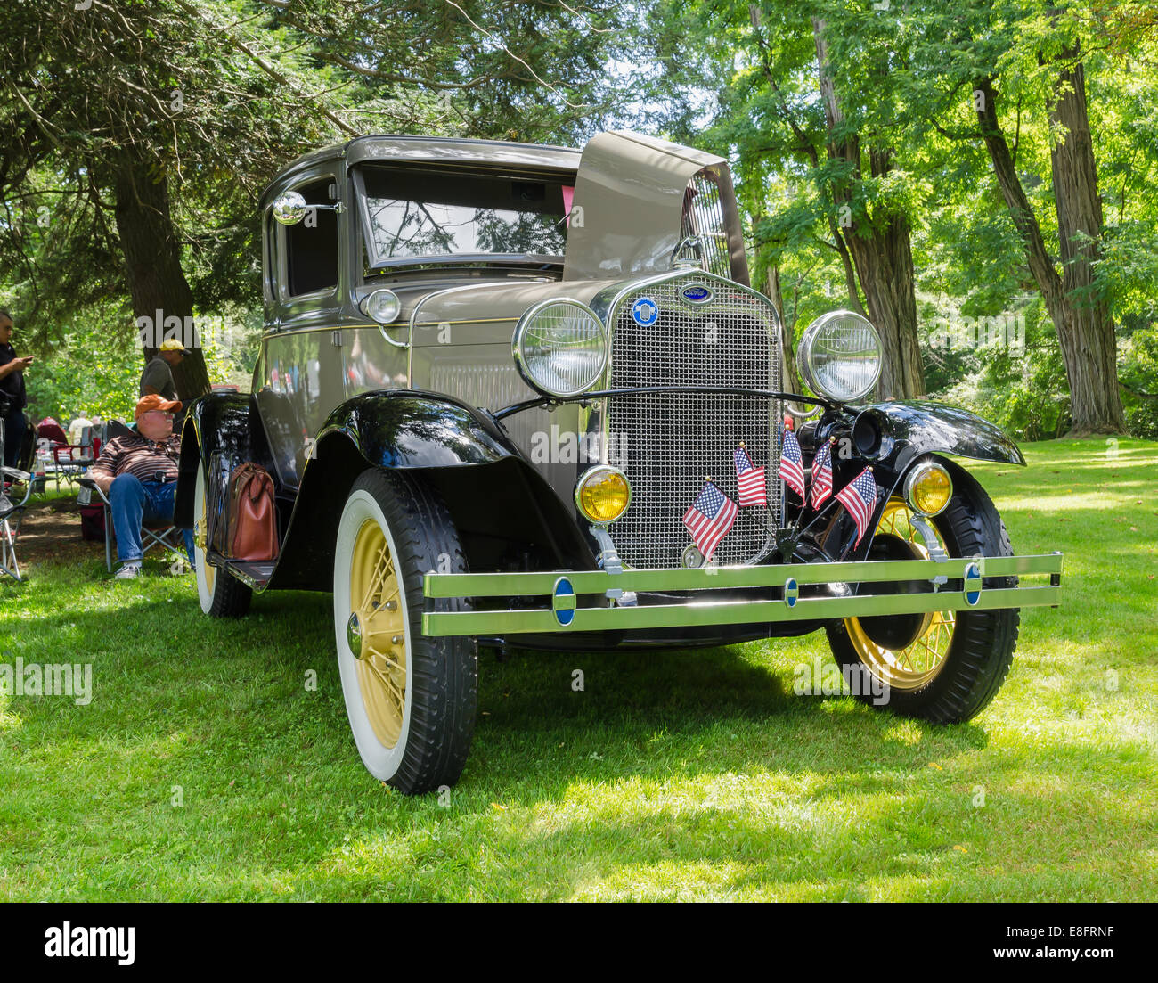 Ford Model A Motorcar at a car show in Upstate New York, USA. - Stock Image