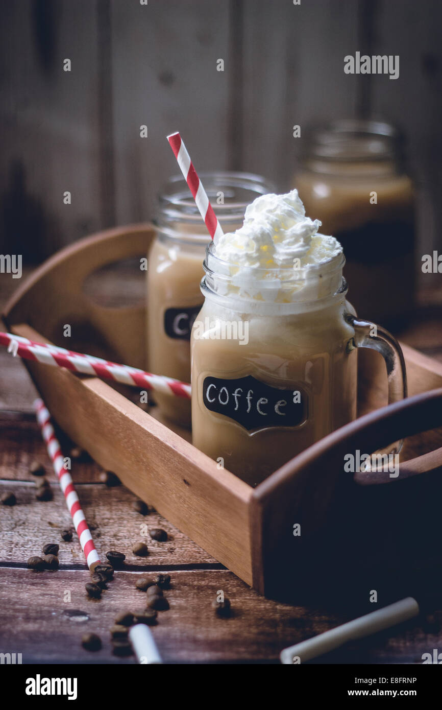 Coffee and cream - Stock Image