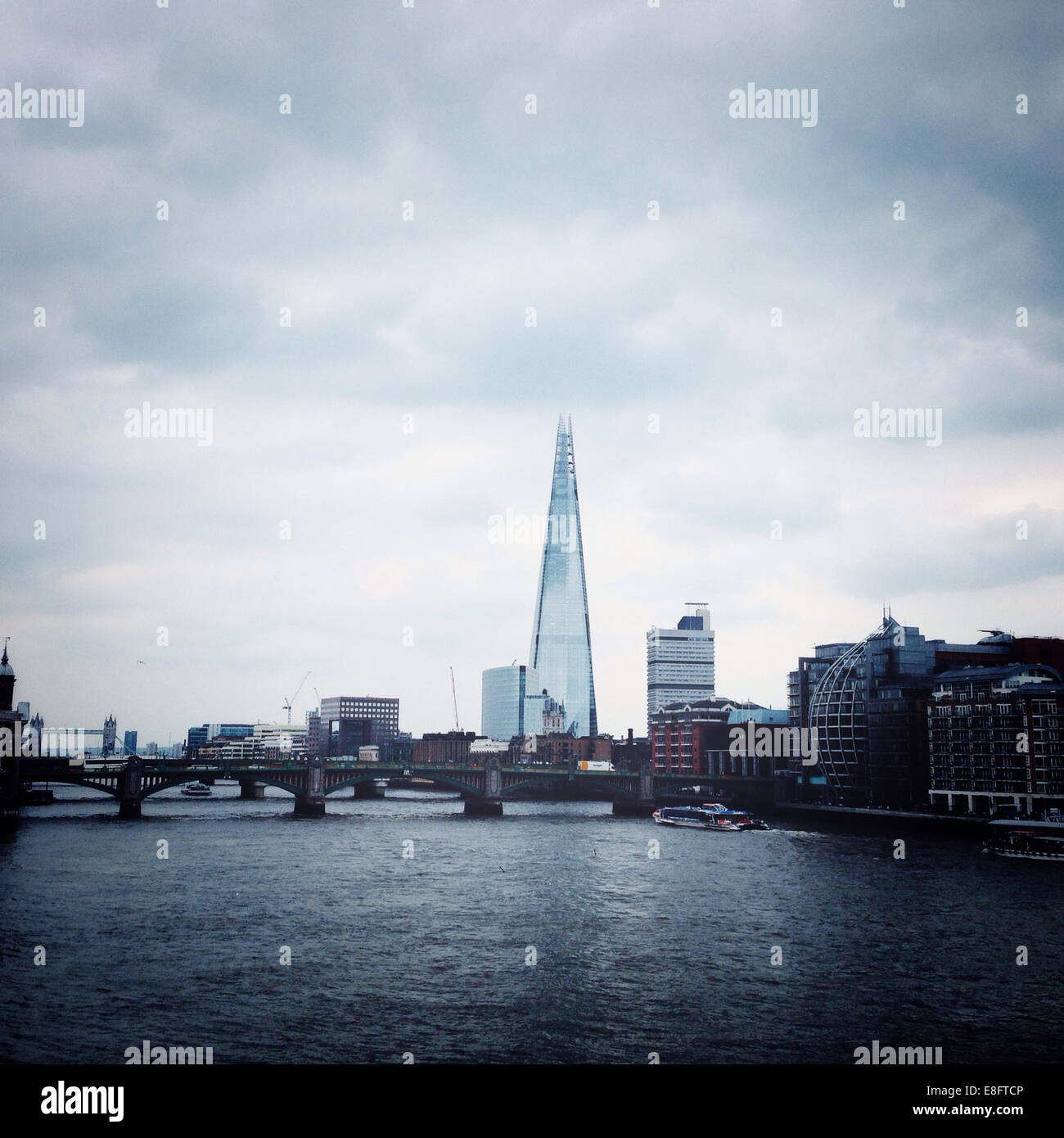 UK, England, London Skyline with Shard - Stock Image