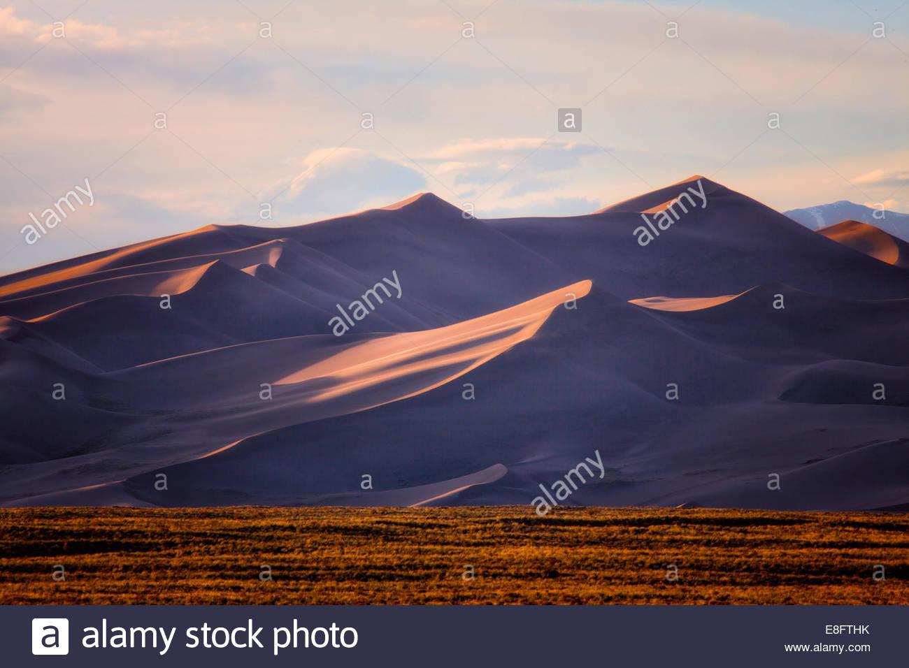 Arid landscape with Sand dunes - Stock Image