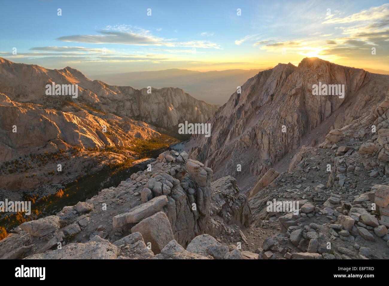 Sunrise Over Candlelight Peak - Stock Image