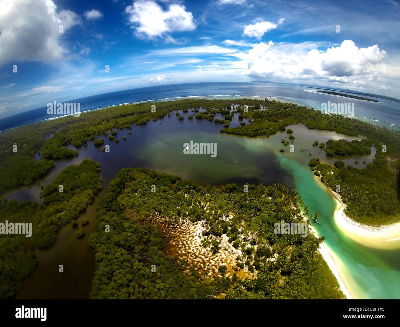Indonesia, View of Mentawai Islands - Stock Image