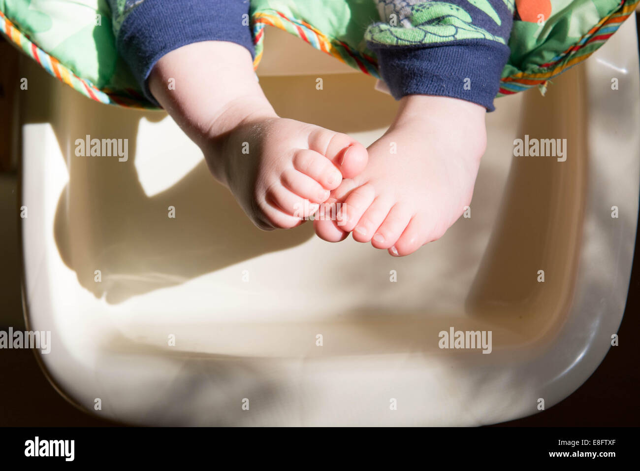 Close-up of a boy's feet - Stock Image
