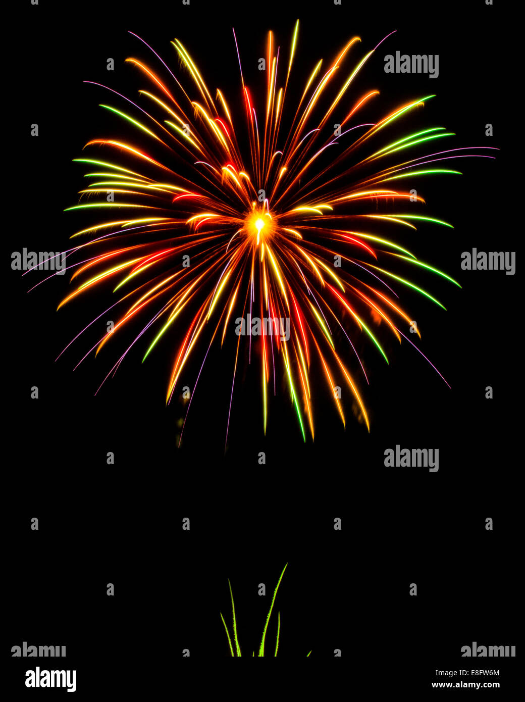 USA, Firework display during Forth of July - Stock Image
