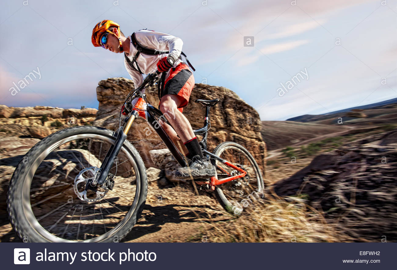 Off road biking - Stock Image