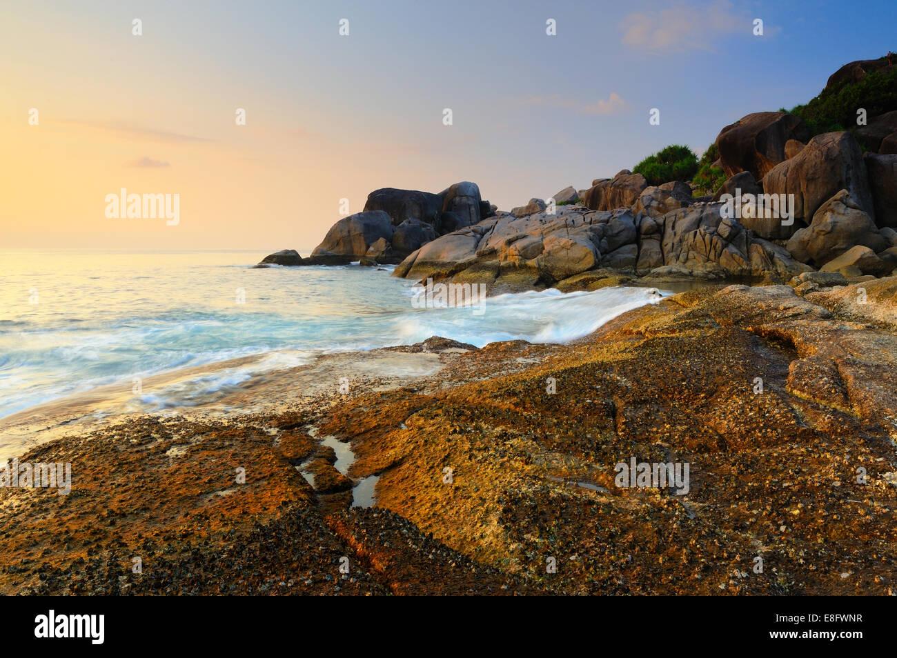 Thailand, Beautiful seascape of Similan island shore - Stock Image