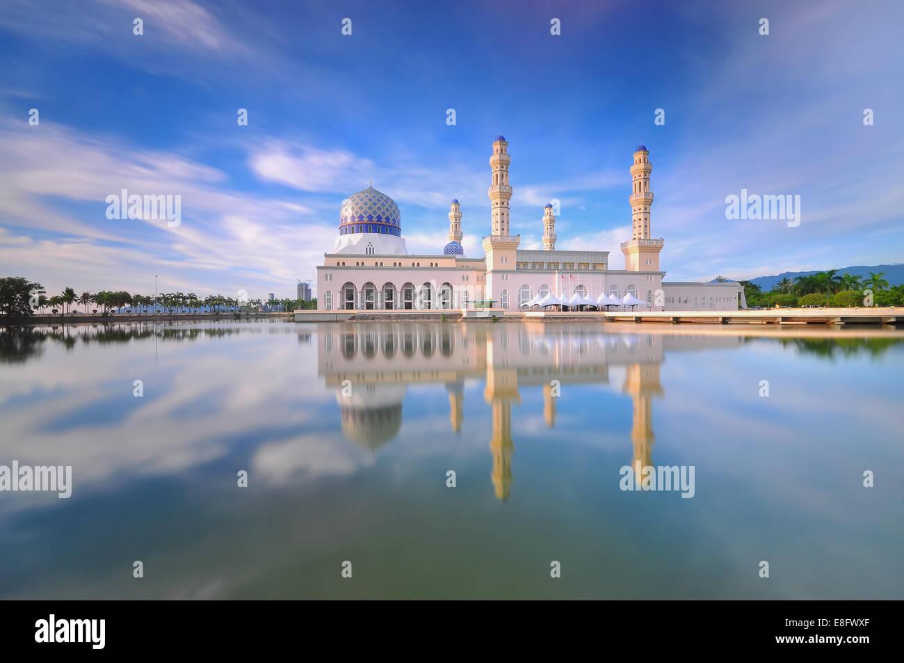 Malaysia, Sabah, Kota Kinabalu City Mosque - Stock Image