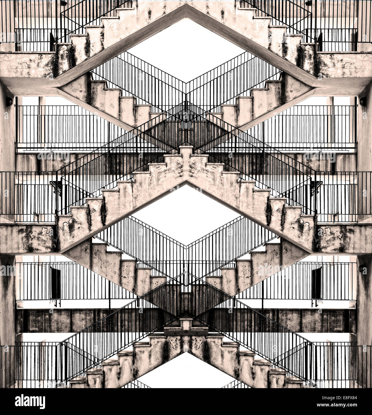Italy, Stairs abstract photo - Stock Image